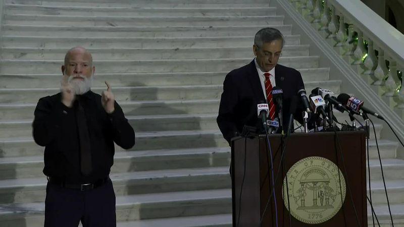 Georgia Secretary of State Brad Raffensperger said Wednesday that President Trump's continued...