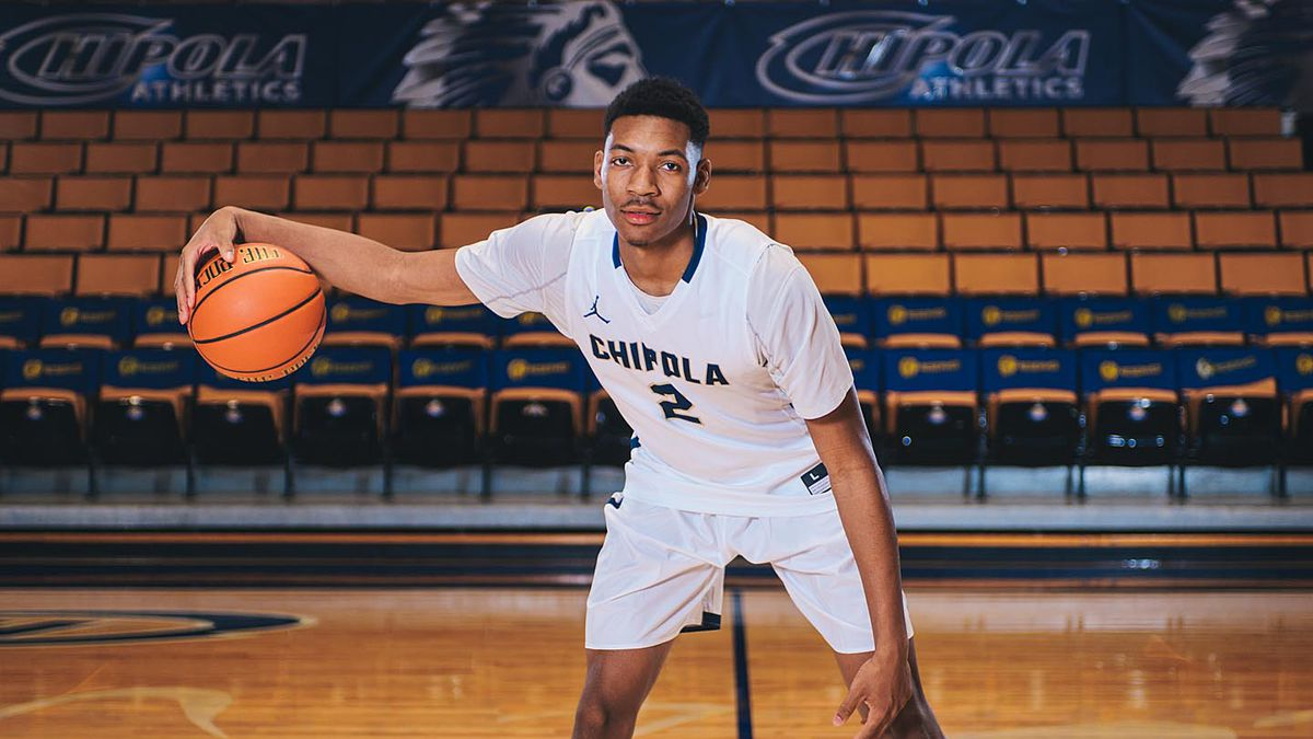 #2 Shamarkus Kennedy had 9 blocks in Chipola's 77-65 win over Eastern Florida State in the first round of the FCSAA State Tournament.