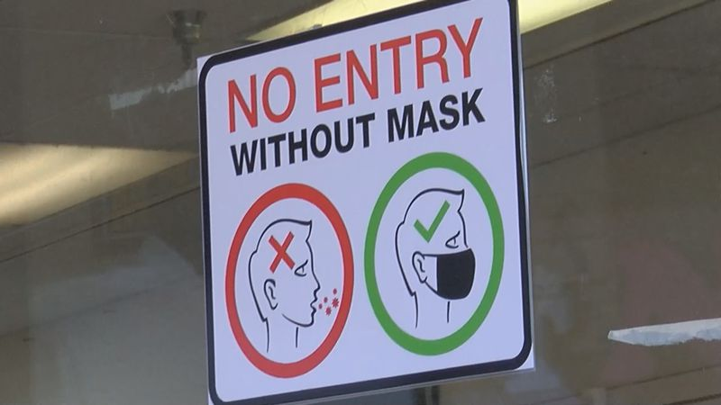 Business mask required sign