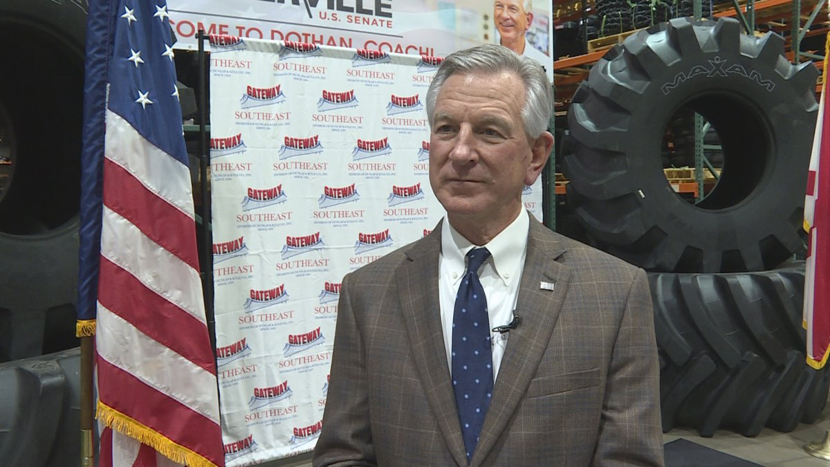 Tommy Tuberville, Republican candidate for the U.S. Senate, speaks to WTVY on January 28, 2020