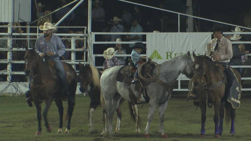 Even the smallest of cowboys and cowgirls took part in the rodeo festivities.