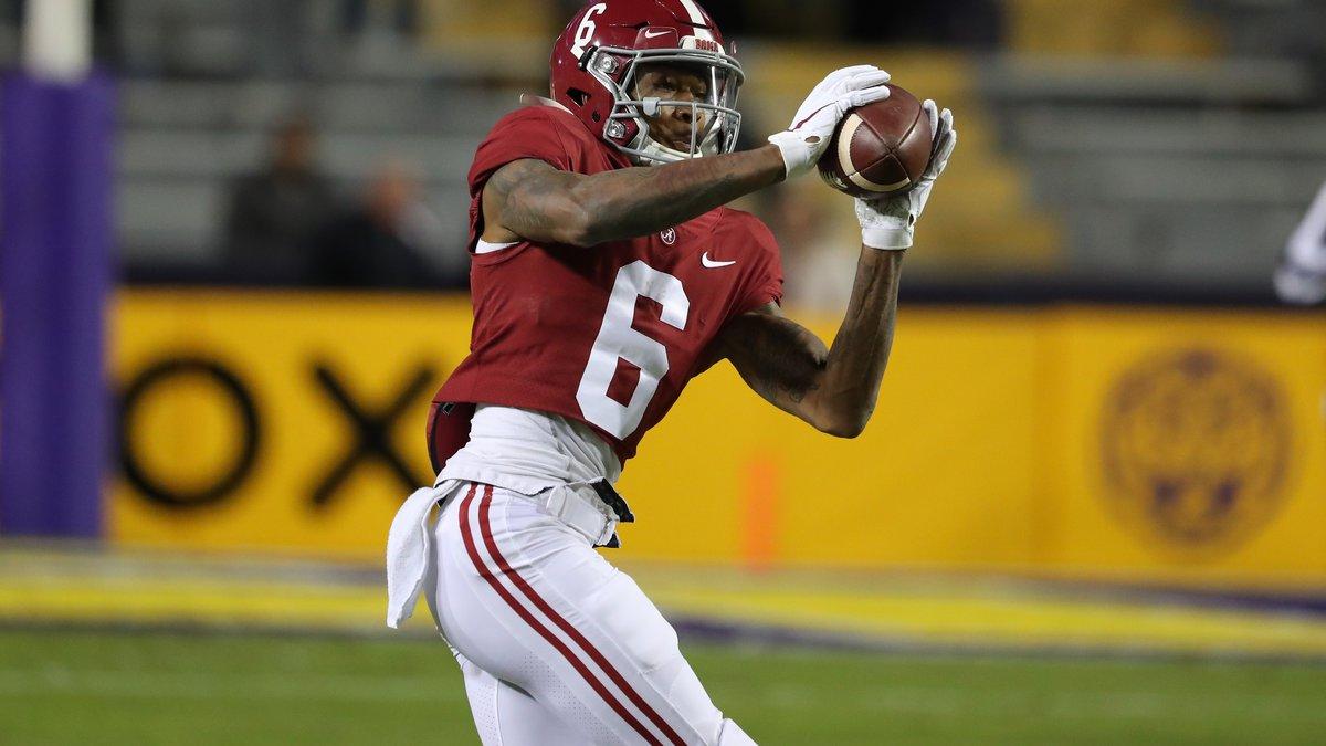 Alabama vs  Alabama wide receiver DeVonta Smith (6) Photo by Kent Gidley