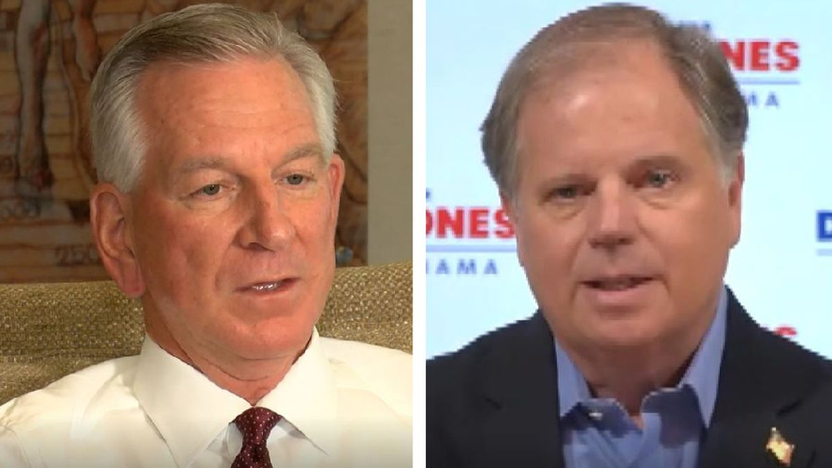 Tommy Tuberville (left) will face current Sen. Doug Jones (right) in the November election.