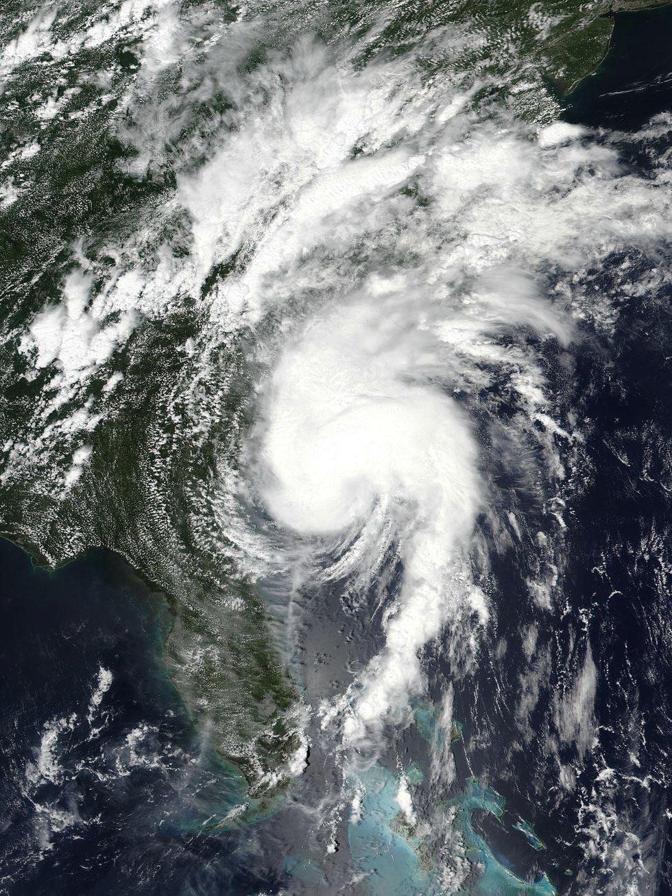 Hurricane Isaias on August 3, 2020