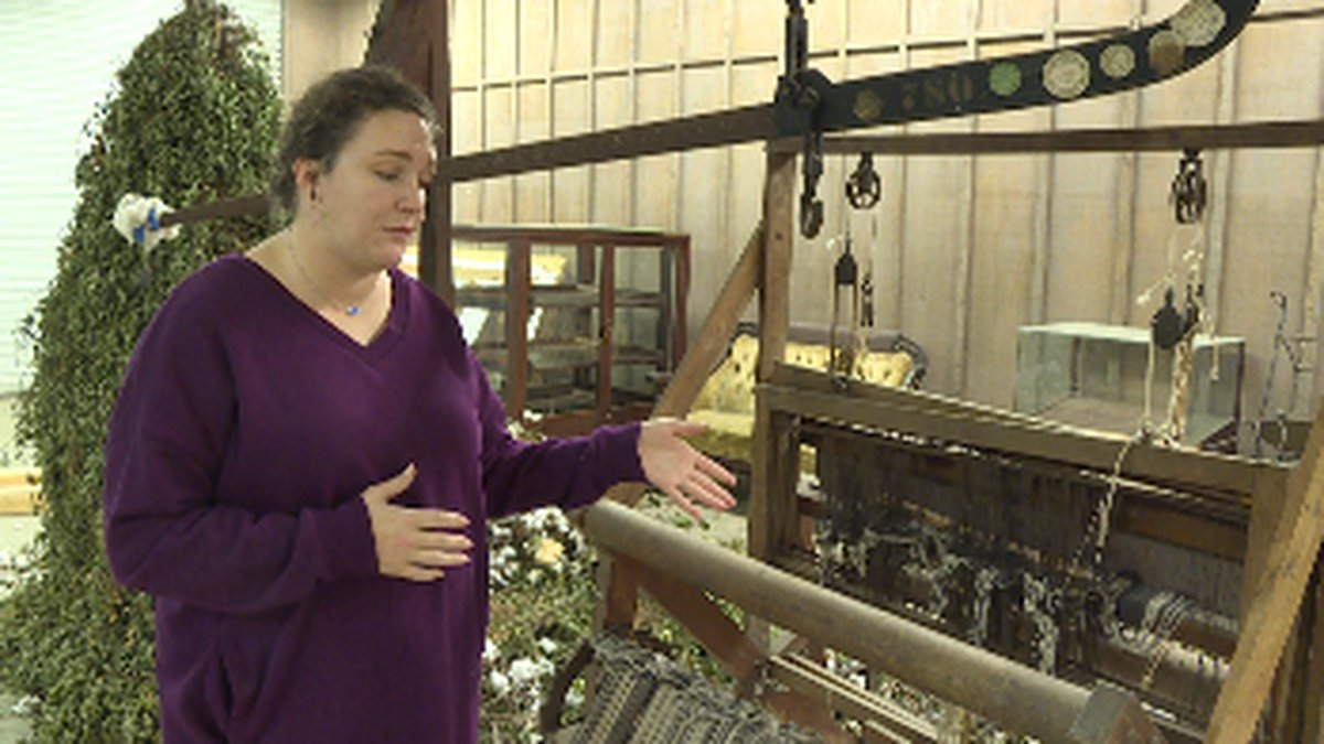 Alabama Agricultural Museum curator Kari Barley explains how artifacts like the loom pictured...