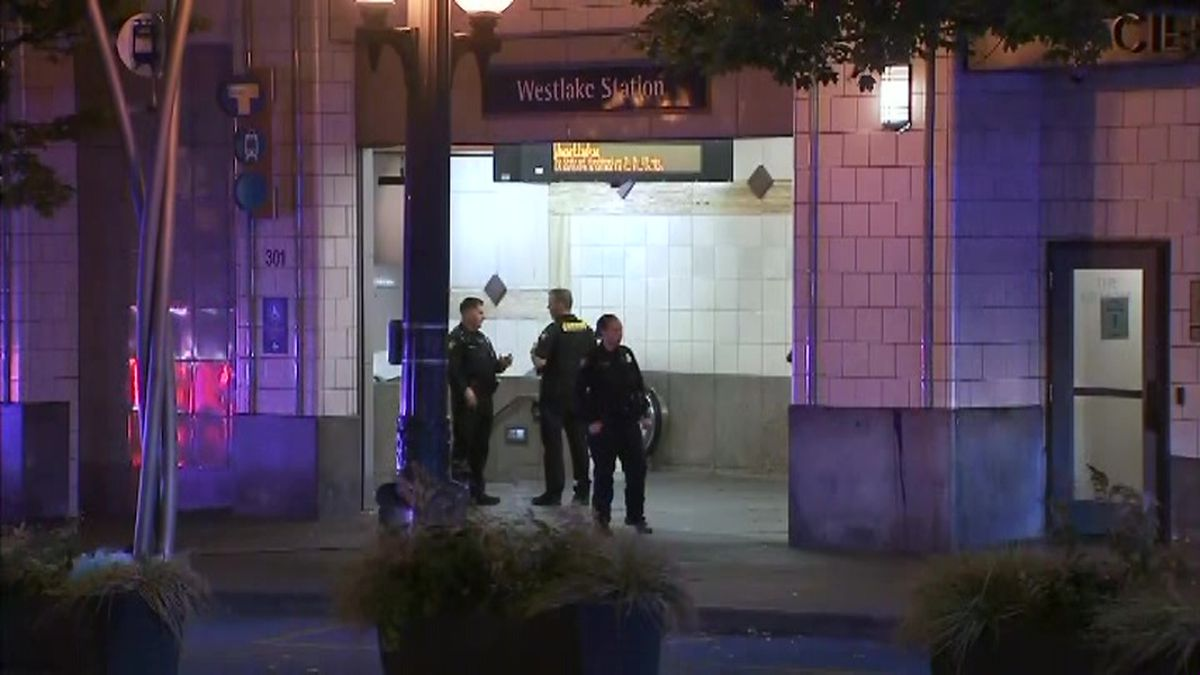 One person was killed and two others injured in a shooting at a Seattle train station. (Source: KIRO/CNN)