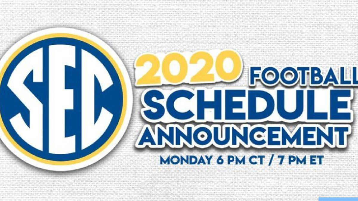2020 SEC Football Schedule announcement expected Monday.