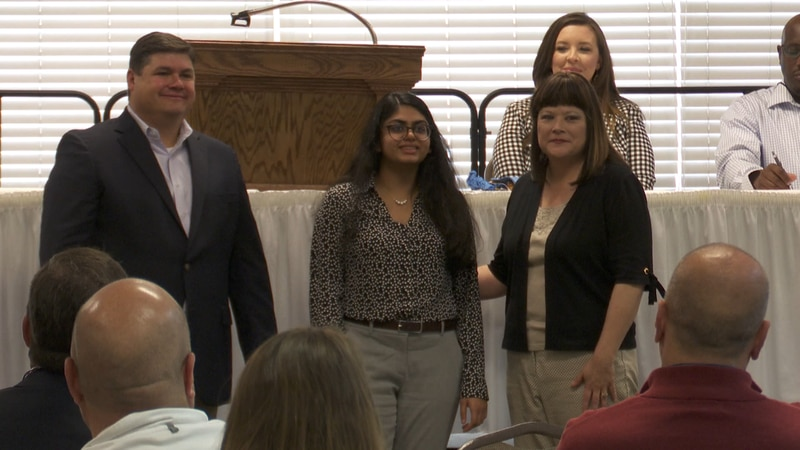 Greenville High School student Krupta Patel receives an additional $1,000 scholarship for...