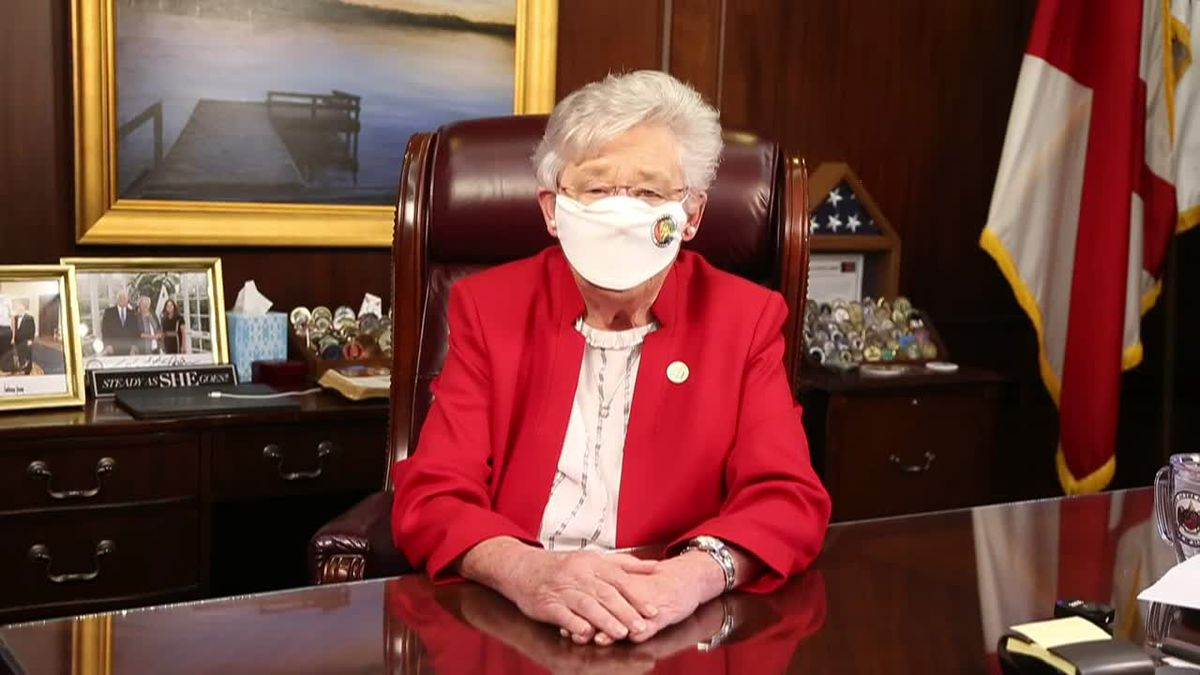 Gov. Kay Ivey encourages wearing a mask when appropriate