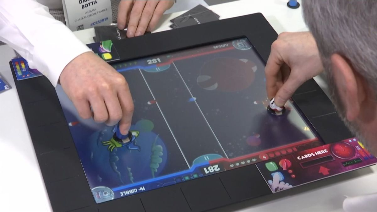France-based Wazama is demonstrating its board game console at Las Vegas gadget show CES. It's...
