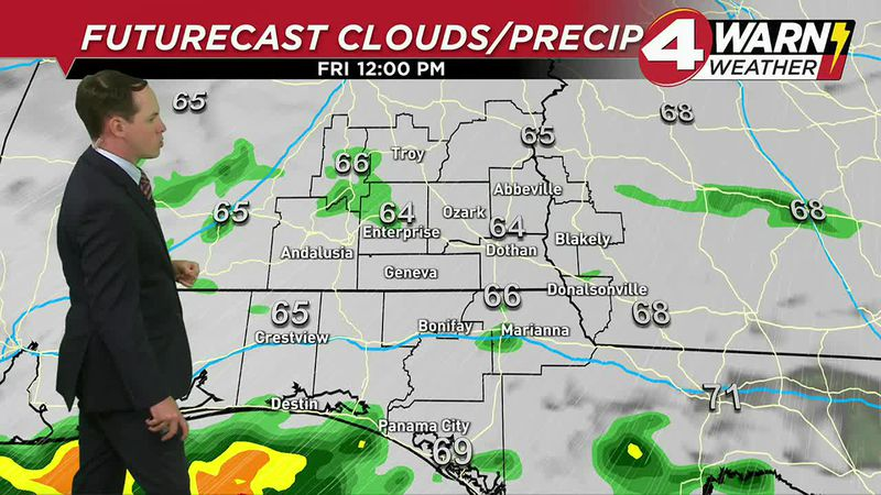 Mostly cloudy skies will continue to stick around into the afternoon with isolated showers and...