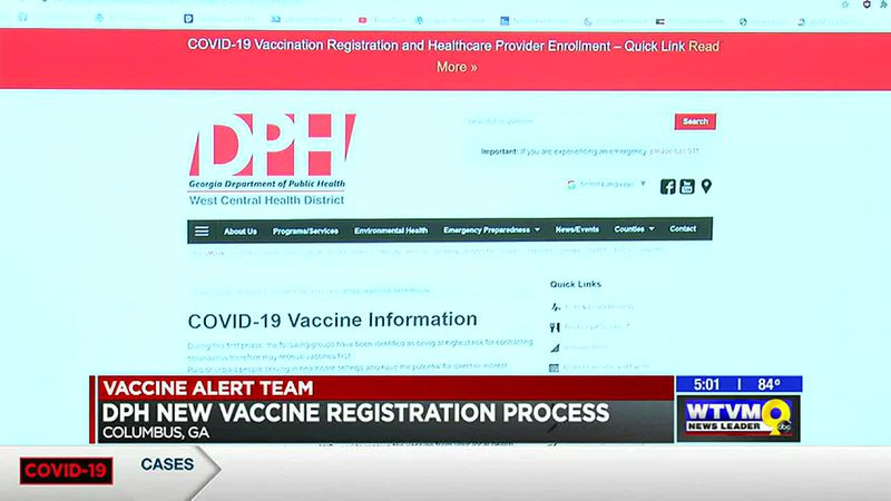 Georgia Department of Public Health releases state-wide website for vaccine registration