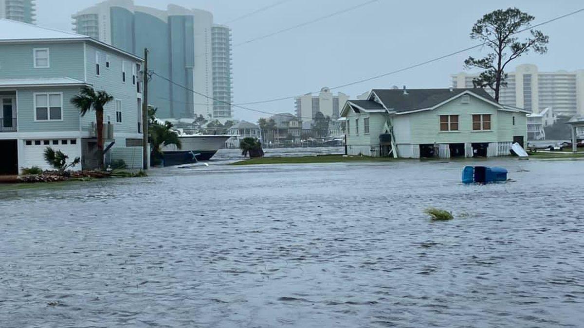 Hurricane Sally flooding in Gulf Shores, Ala.