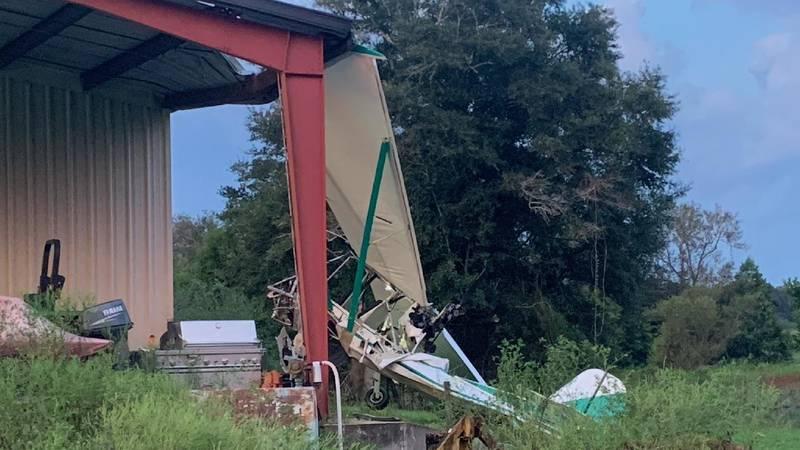 A small aircraft crashed into a barn in Geneva, Alabama on September 1, 2021.