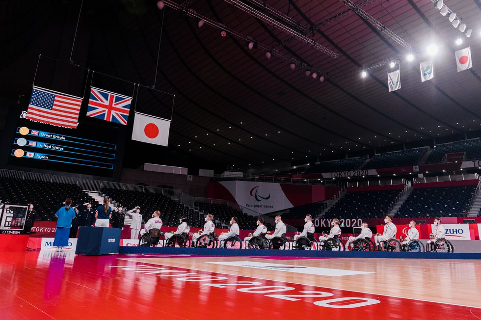 USA Wheelchair Rugby won the silver medal at the 2020 Paralympic Games in Tokyo