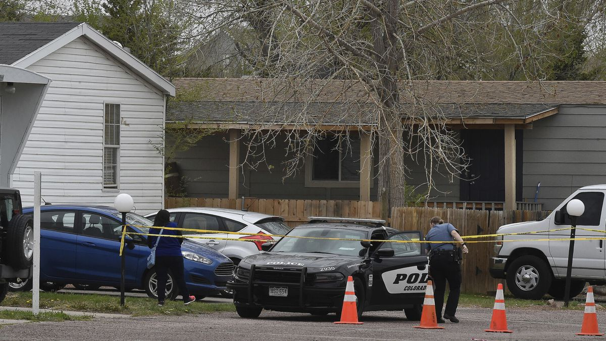 A Colorado Springs police officer goes to help a person who was in a different mobile home to...