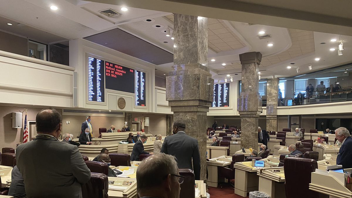 A medical marijuana bill stalled in the Alabama House on May 5, 2021.