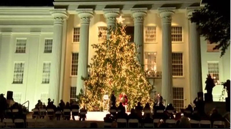Official state Christmas tree lighting ceremony