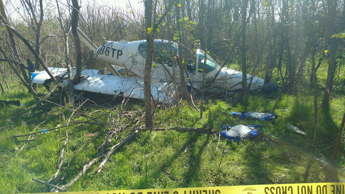 A plane used for training military pilots crashed in a wooded area near the Abbeville Airport...