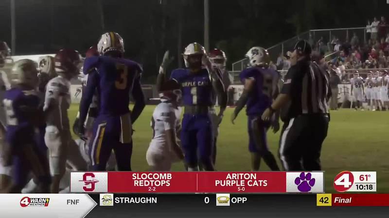 Ariton remains unbeaten; defeats Slocomb 38-28