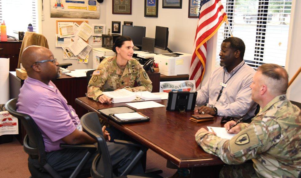 U.S. Army Lt. Col. Erica Witty, 1st Battalion, 13th Aviation Regiment commander, 1st Aviation...