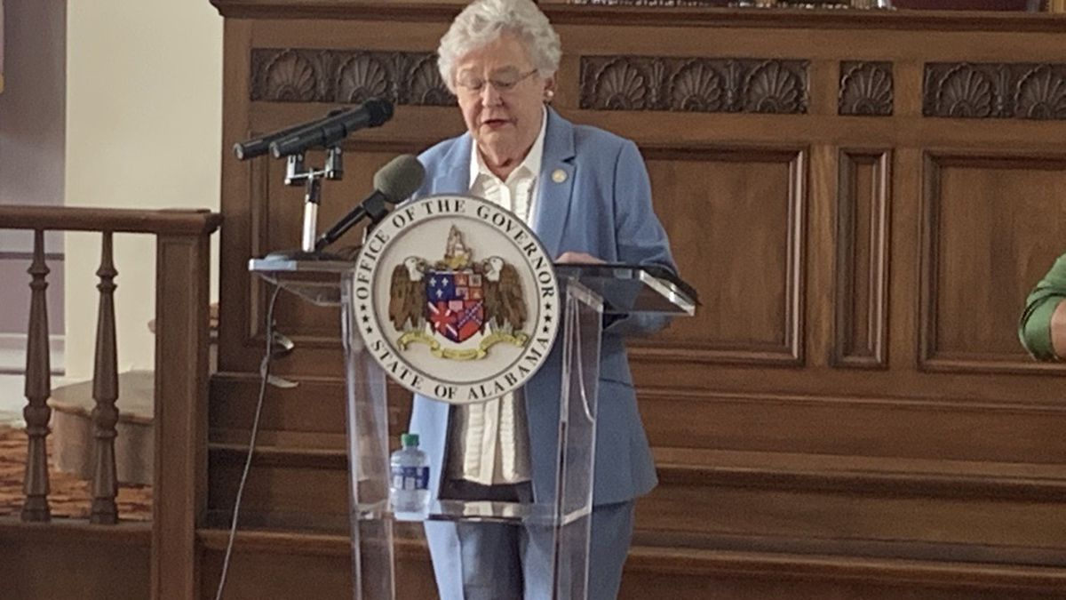 Alabama Gov. Kay Ivey giving an update on COVID-19 on June 30, 2020.