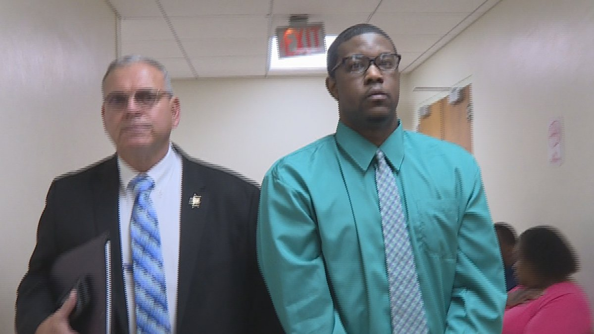Herman Cunningham, charged with capital murder, is led into a Henry County courtroom on April...
