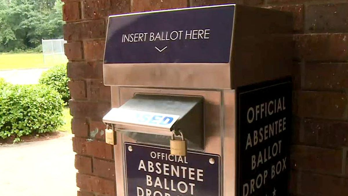 This is a local absentee ballot drop box.