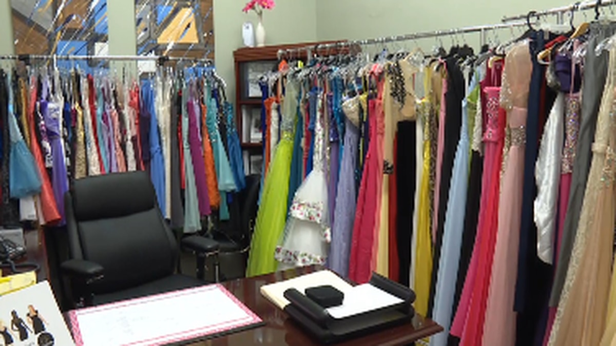 Dresses at the Cochran Firm for Cinderella's Closet (Source: WTVY)