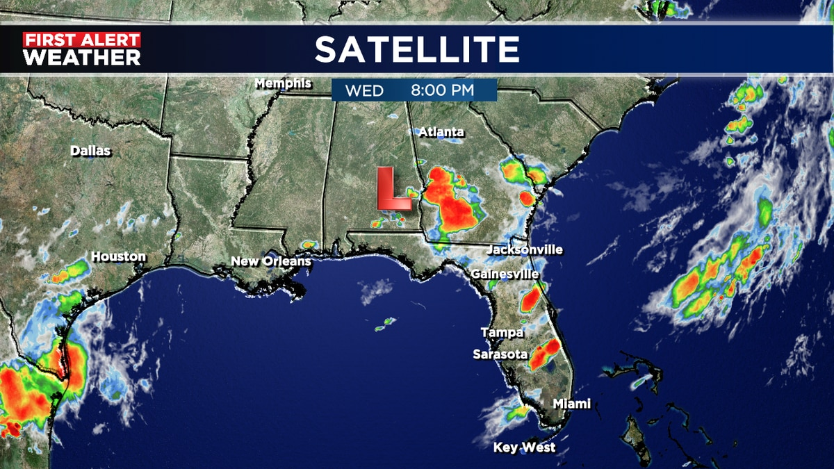 System may get charged up off NE Florida