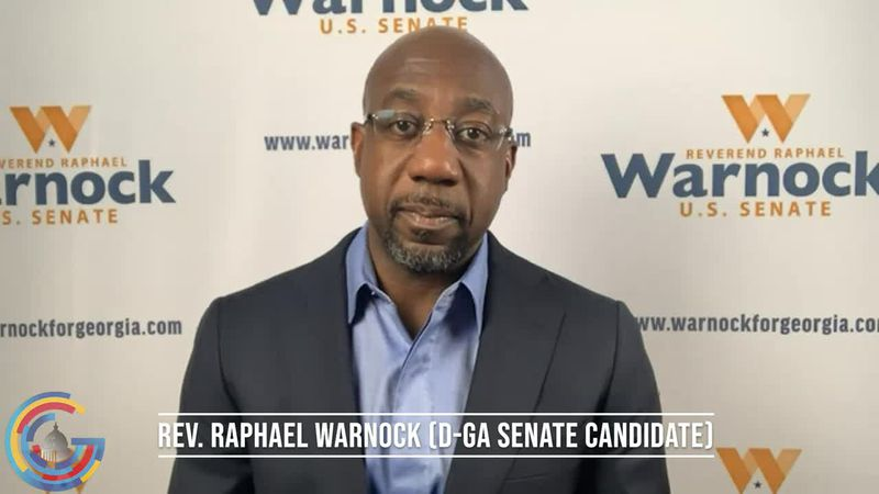 Rev. Raphael Warnock does an interview on the top campaign issues heading into the Jan. 5...