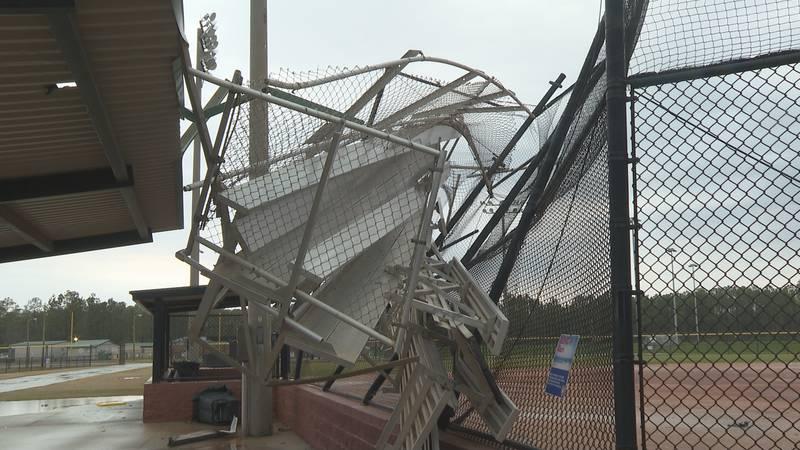 Strong winds, thunder, heavy rain and a possible tornado shook Panama City Beach Monday.