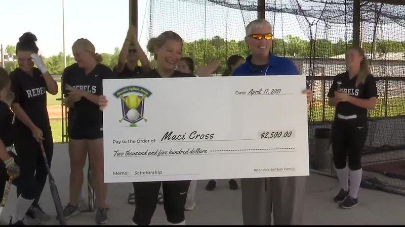 Rehobeth's Maci Cross receives Rhonda's Softball Family Scholarship