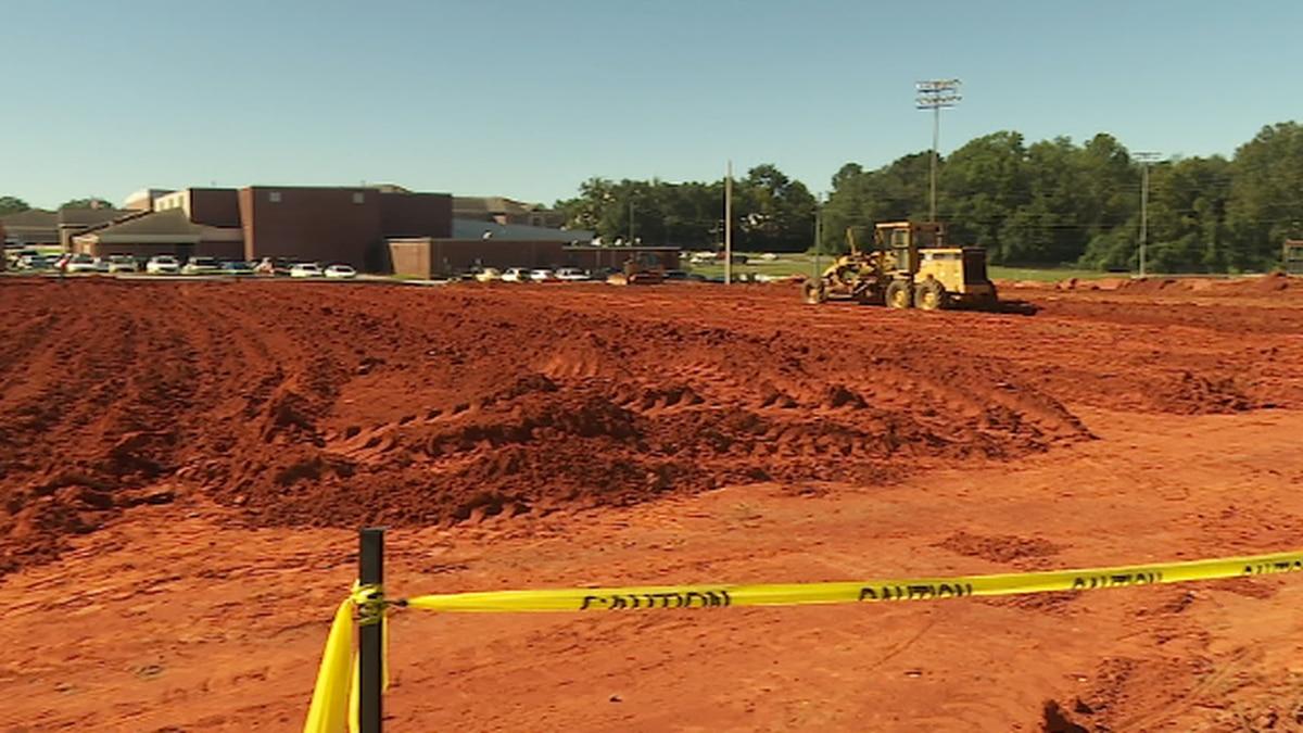 Construction at Carroll High School