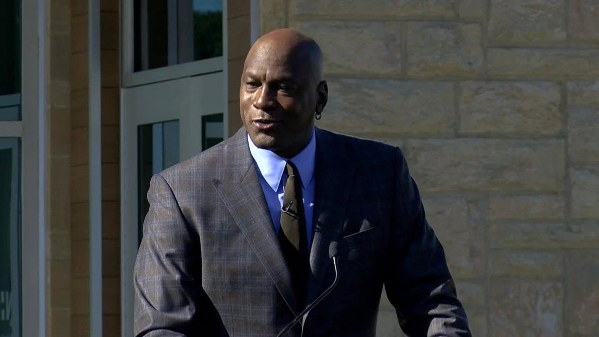 Michael Jordan sheds tear, credits mom at opening of Novant clinic in Charlotte