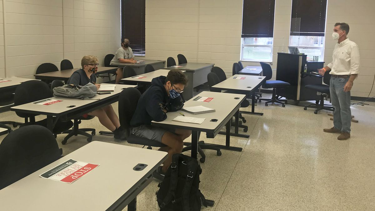 Many ESCC classrooms have had seats arranged to meet social distancing guidelines.
