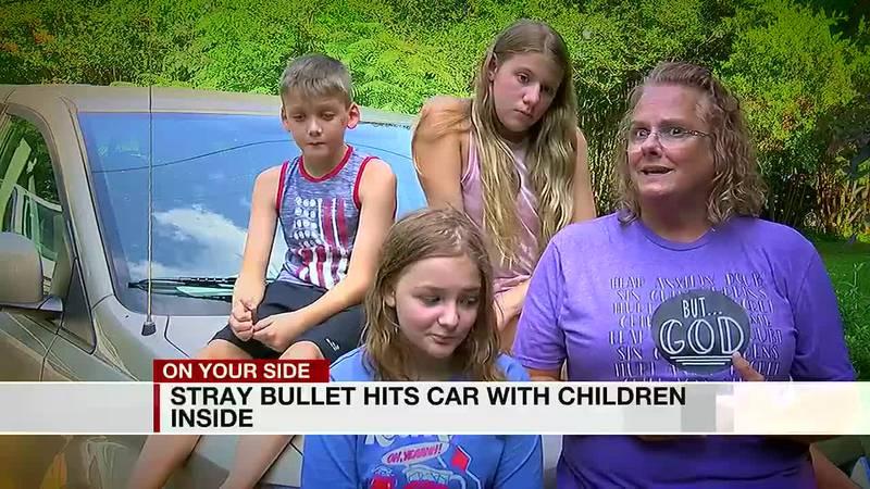 Stray bullet hits grandmothers van