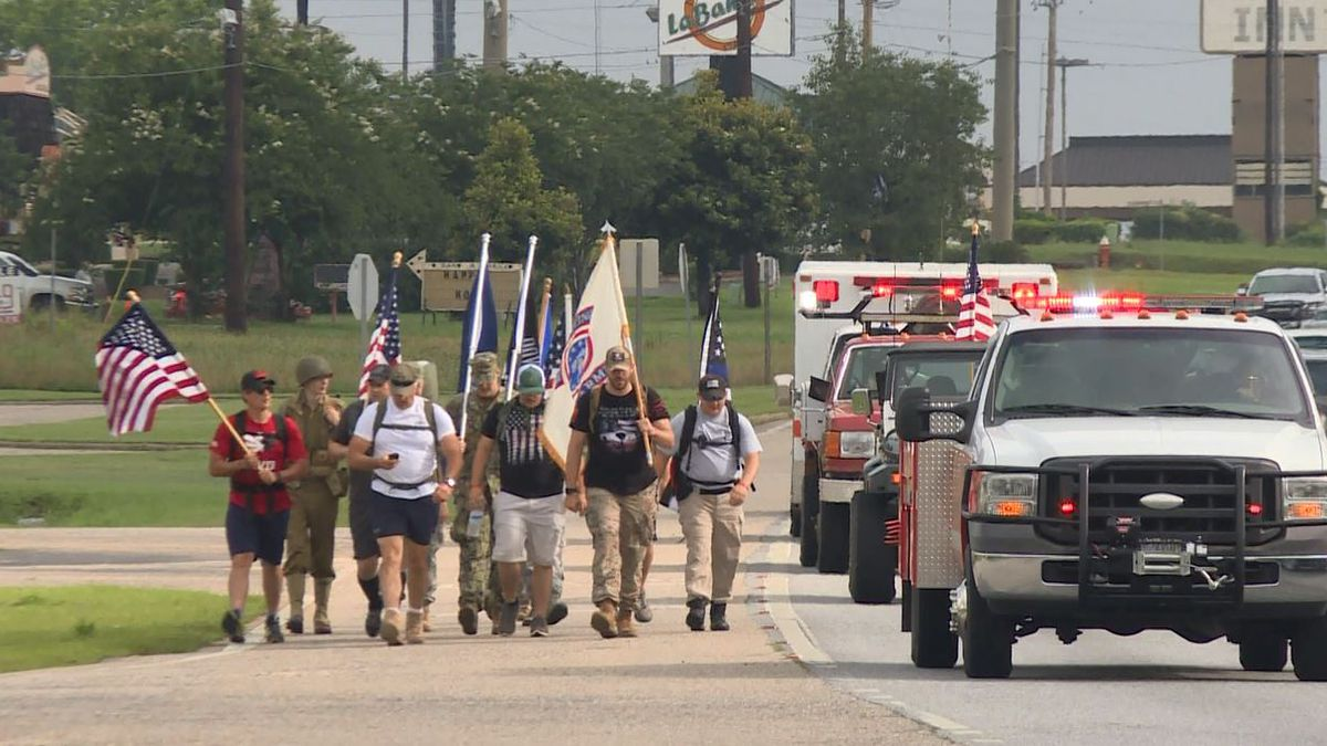 The Ruck for Remembrance March went around Ross Clark Circle on May, 25, 2018. (Source: WTVY)