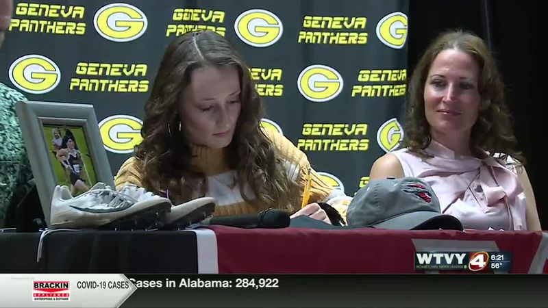 On the dotted line: Leah Taylor signs with Western Colorado