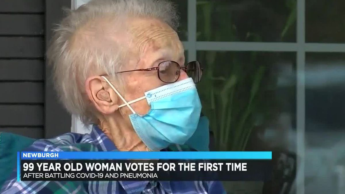 Only three months shy of her 100th birthday, Barbara Duvall of Indiana, participated in a task...