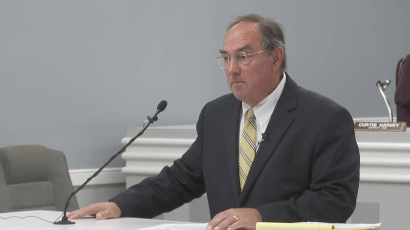District Attorney Pat Jones announces his re-election bid on October 20, 2021.