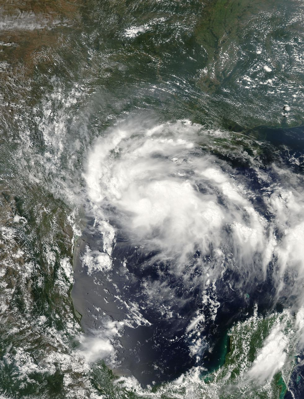 Tropical Storm Erin on August 15, 2007.