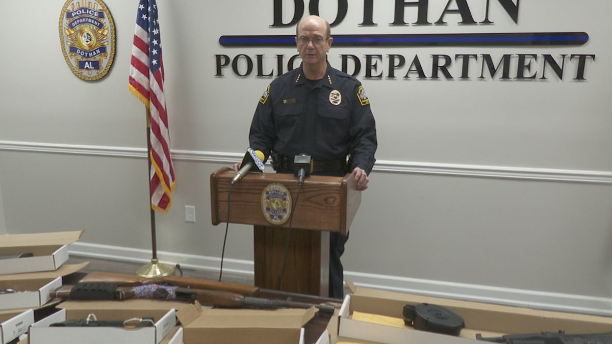 Dothan Police Chief Steve Parrish announces results of crime crackdown on September 21, 2020.
