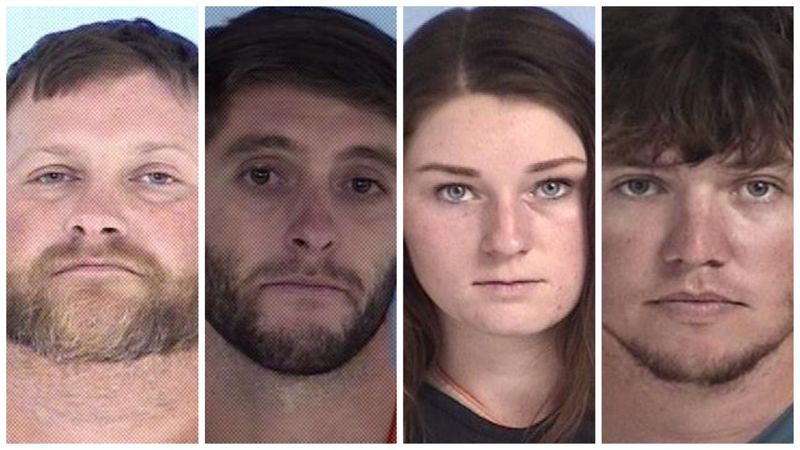 Four Walton County residents were arrested for alleged illegal deer harvesting. (Pictured from...