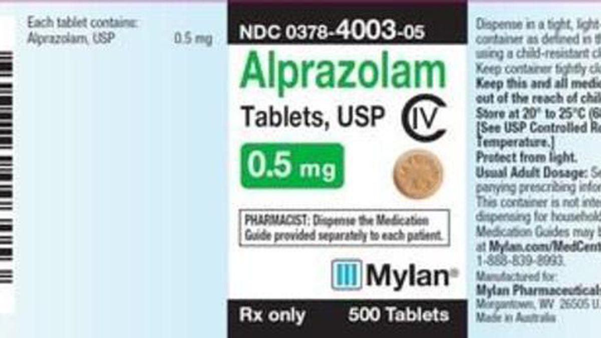 Recalled product label (Courtesy: Mylan Pharmaceuticals)