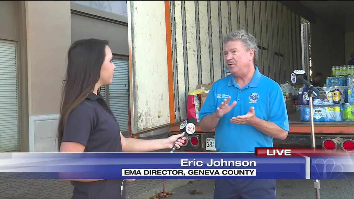 Geneva County EMA Director, Eric Johnson was interviewed for WTVY's Hurricane Sally relief...