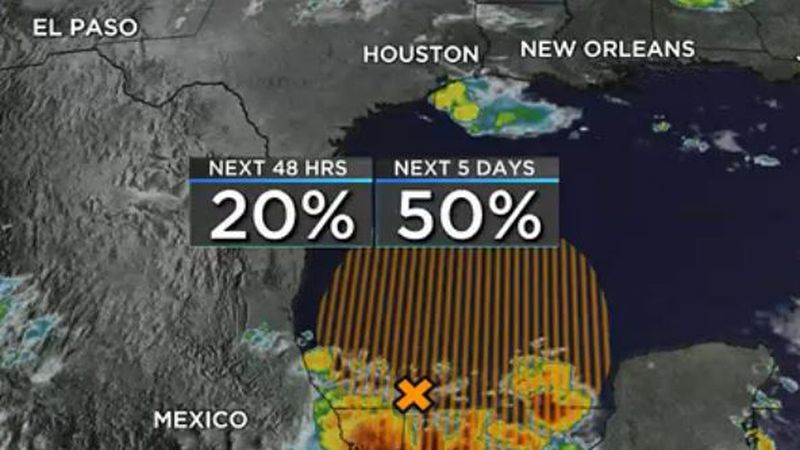A tropical disturbance currently located in the far southern Gulf and Bay of Campeche is being...