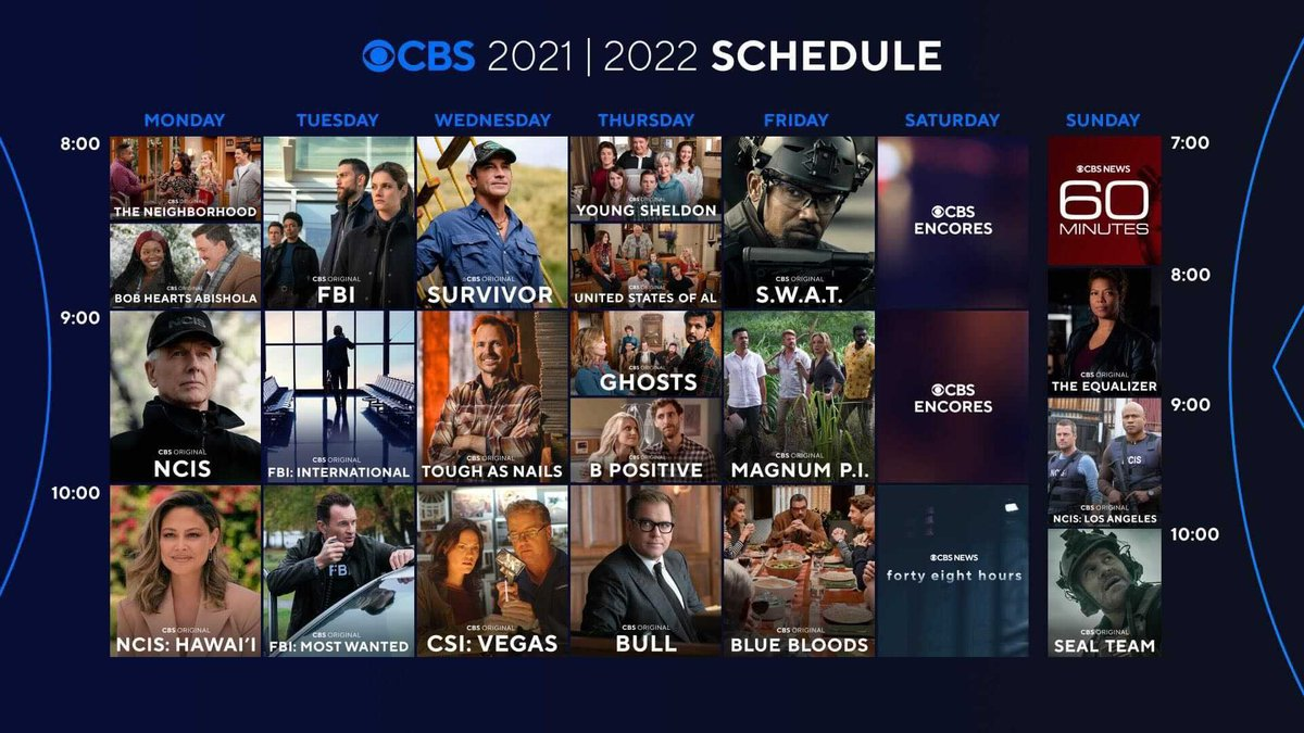 CBS's 2022 lineup moves NCIS from Tuesday night and brings back CSI.