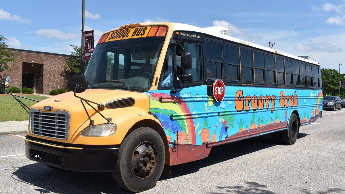 Dothan City Schools' Groovy Grub Bus