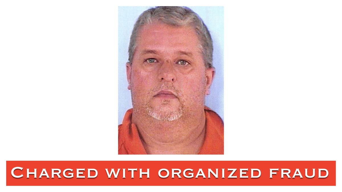 Roger McLaney II is charged with organized fraud over $50,000.